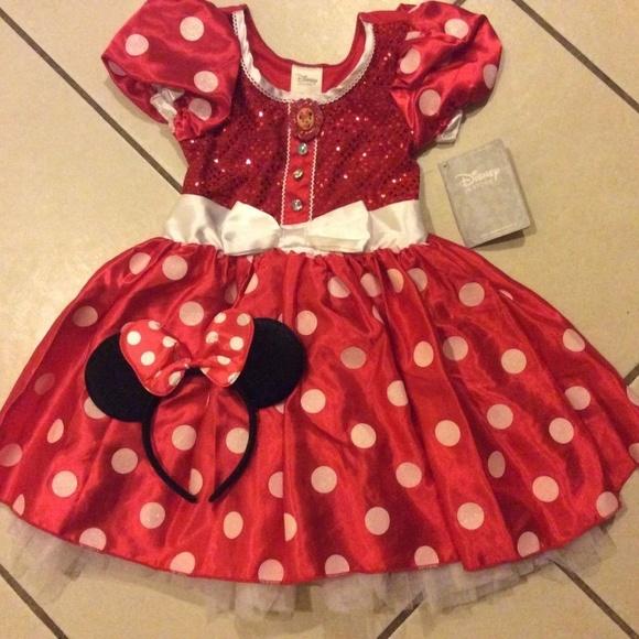 f40018b1f72e4 DISNEY STORE Minnie Mouse COSTUME 5 6 Girls Dress+
